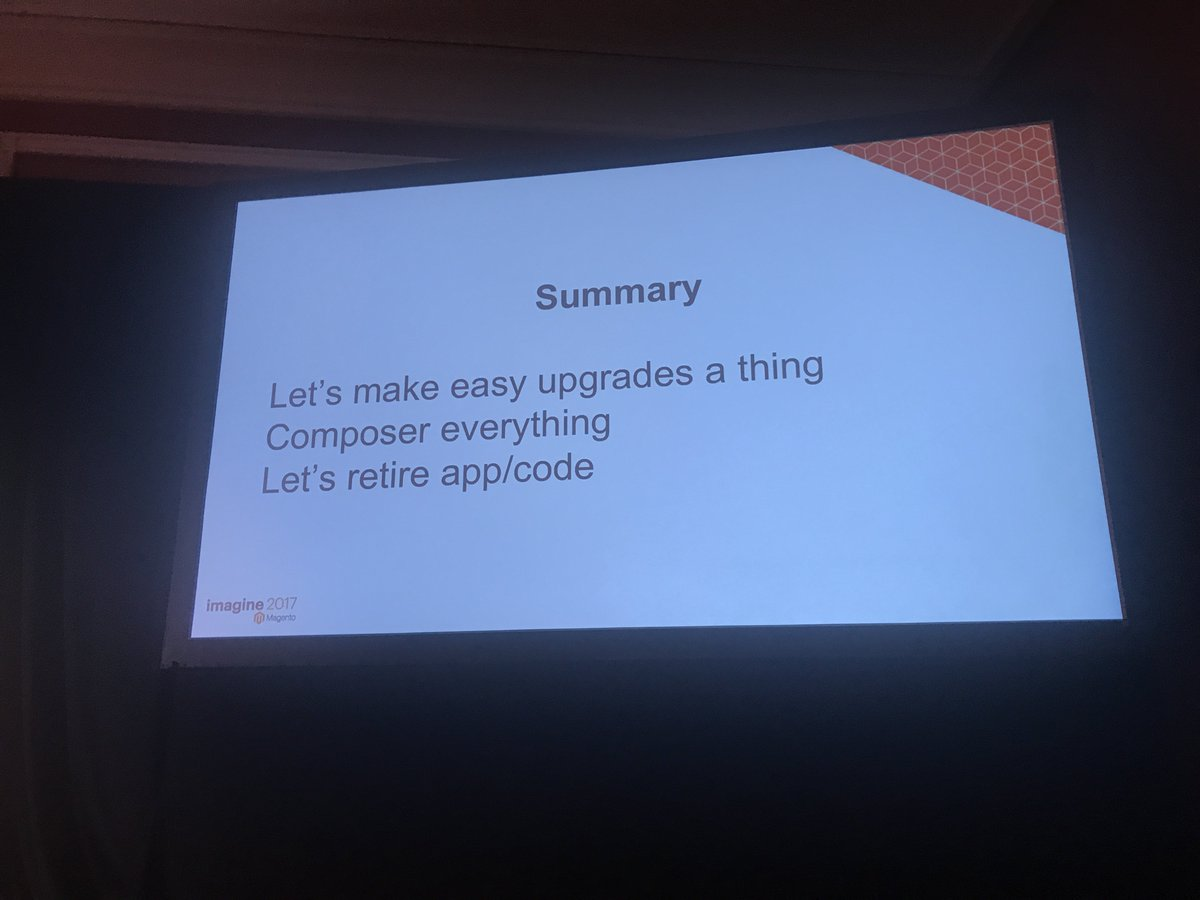 JohnHughes1984: Get summary of composer usage and best practise from @foomanNZ #MagentoImagine https://t.co/wiFiWIa66p