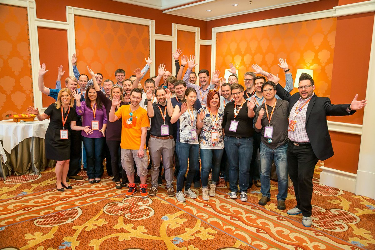 sherrierohde: Awesome #MagentoMasters shot from yesterday's breakfast. We may be crazy but we sure do have fun! 🌟 #MagentoImagine https://t.co/we5dq2irta