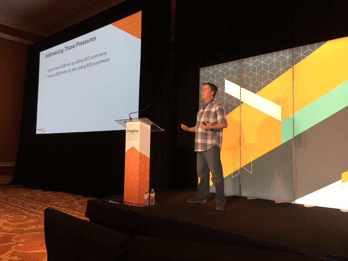 MagentoJenna: B2B buyers want a seamless experience- @JoshuaSWarren #Magentoimagine https://t.co/xjmbAWXDp9