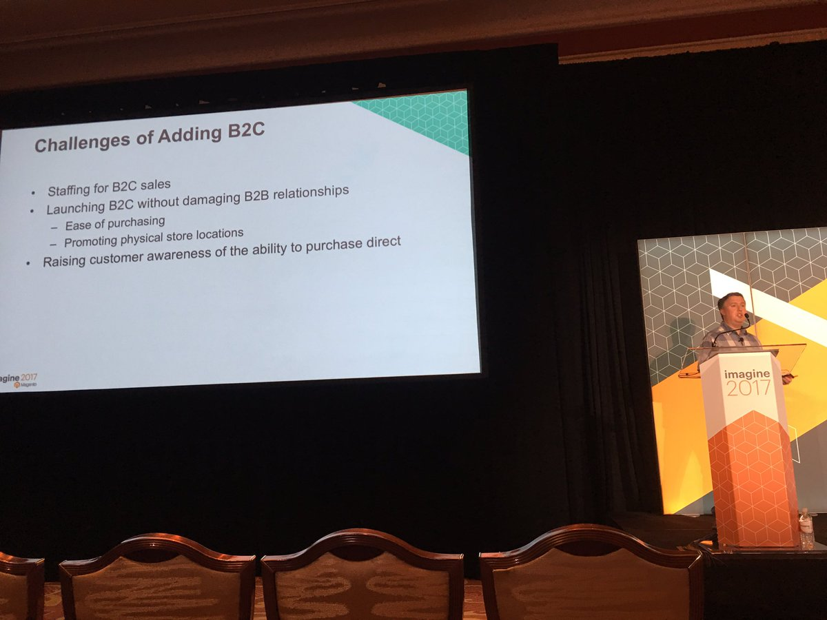 briggsbrandon: Challenges facing B2B businesses adding B2C - @JoshuaSWarren #Magentoimagine https://t.co/1iNtpXlQoK