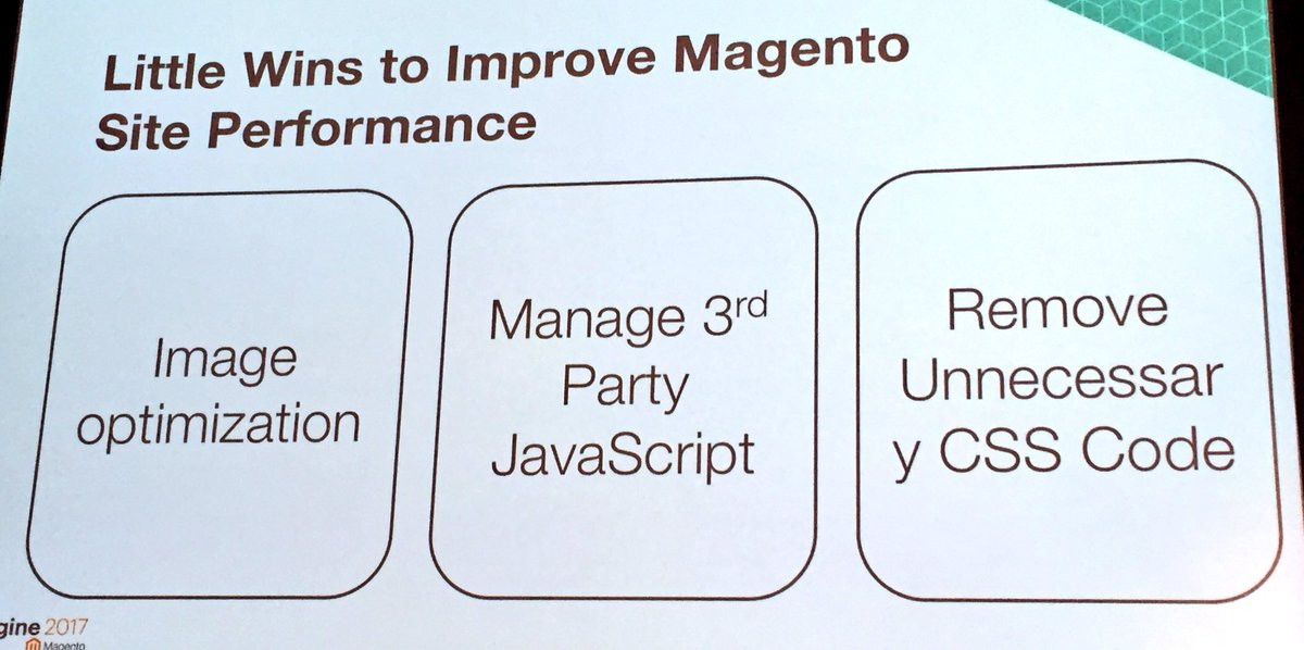 annhud: Little wins to improve @Magento website #performance  @stewmcgrath of @sectionio  #MagentoImagine https://t.co/3QdPYdhhYd