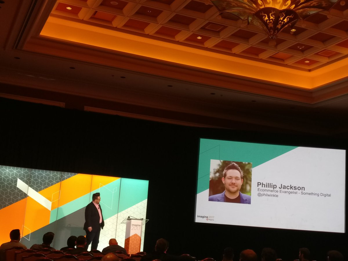 sherrierohde: Made it to @philwinkle's talk on Managing Growing Compliance Burden in Digital Commerce! #MagentoImagine https://t.co/jJfeUsLzYY