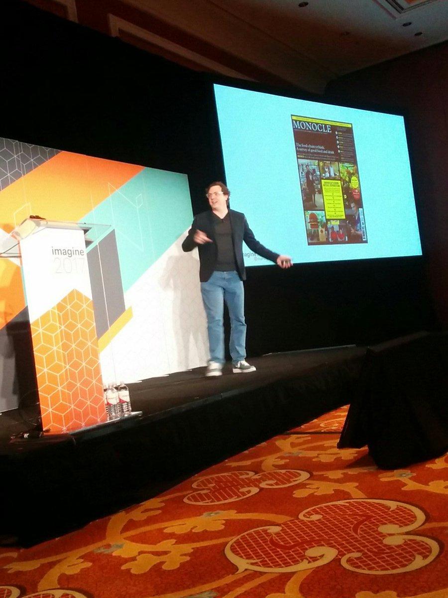 aleron75: Let's talk about #Magento2 APIs with @bobvanjuijt at #MagentoImagine https://t.co/I4ZD2dpR5J