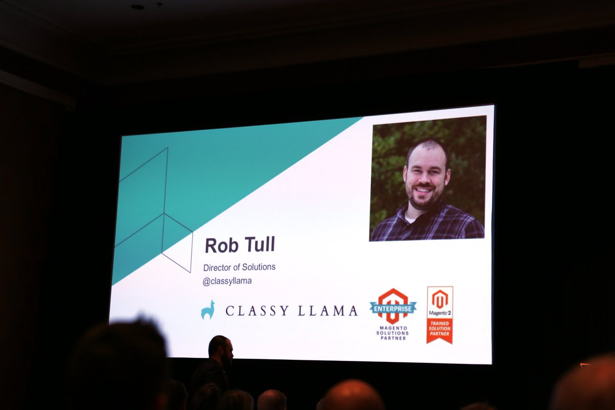 classyllama: Stay tuned! Our very own @robtull providing expertise on B2B Commerce #Magentoimagine https://t.co/n3x1Cc7hyR
