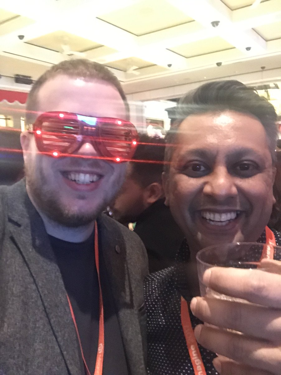 wearejh: Getting into the party. Staying on brand with the red glasses @jhuskisson @janakkika #MagentoImagine https://t.co/iXS3HNkBzl