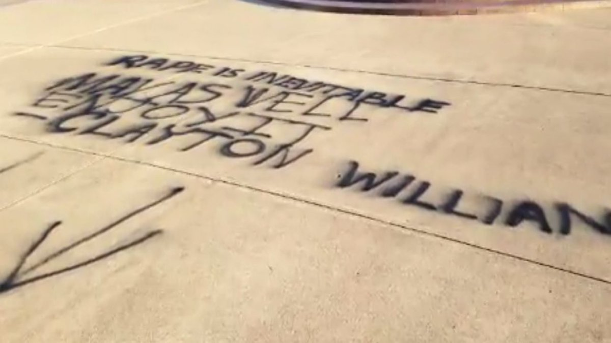 Clayton Williams Rape Quote Spray Painted On Texas A M Campus