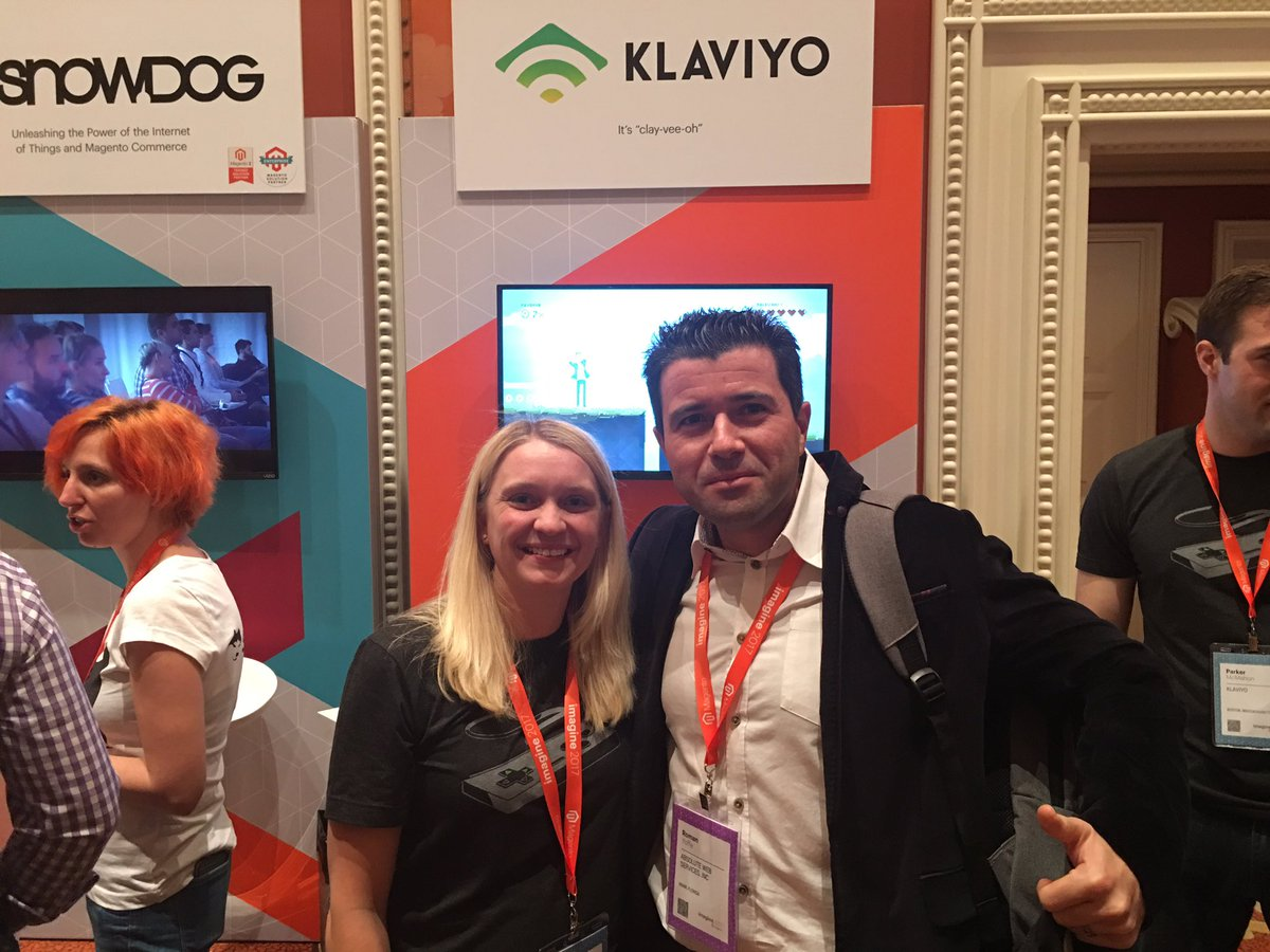 AbsoluteWebINC: Great meeting Klaviyo Team at Magento Conference! #klaviyo #Magentoimagine #magentoimagine2017 #klaviyo https://t.co/7XdvU6BkU9