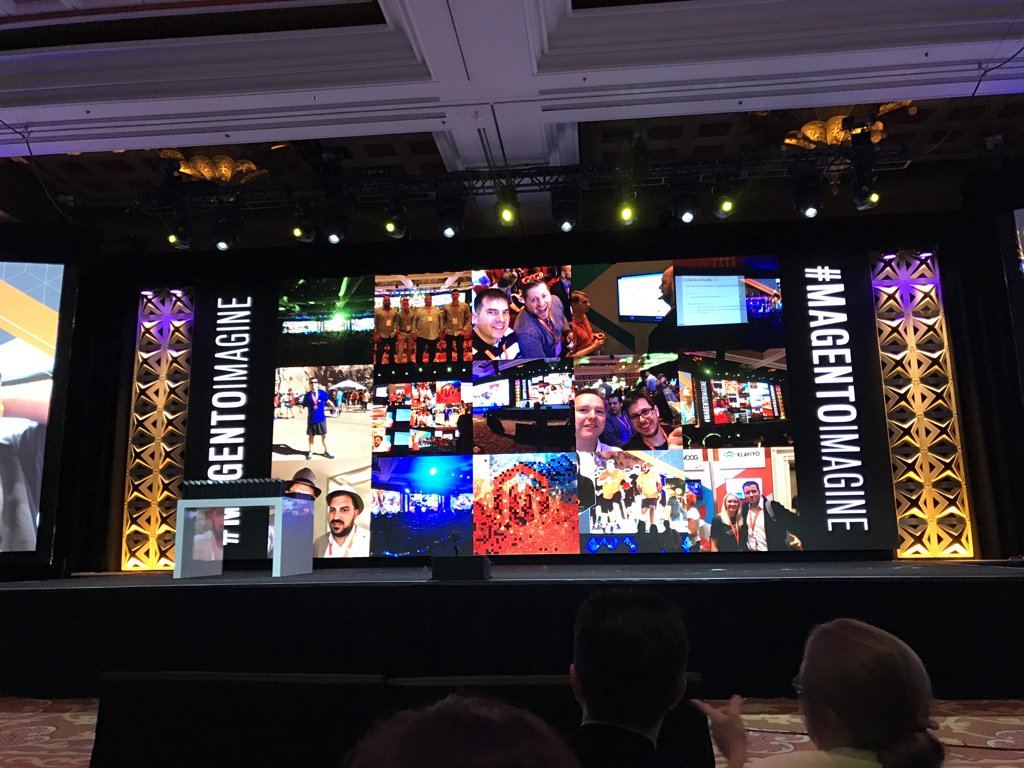 drlrdsen: It's fun to hijack that image wall at #MagentoImagine https://t.co/vXKii3Yped