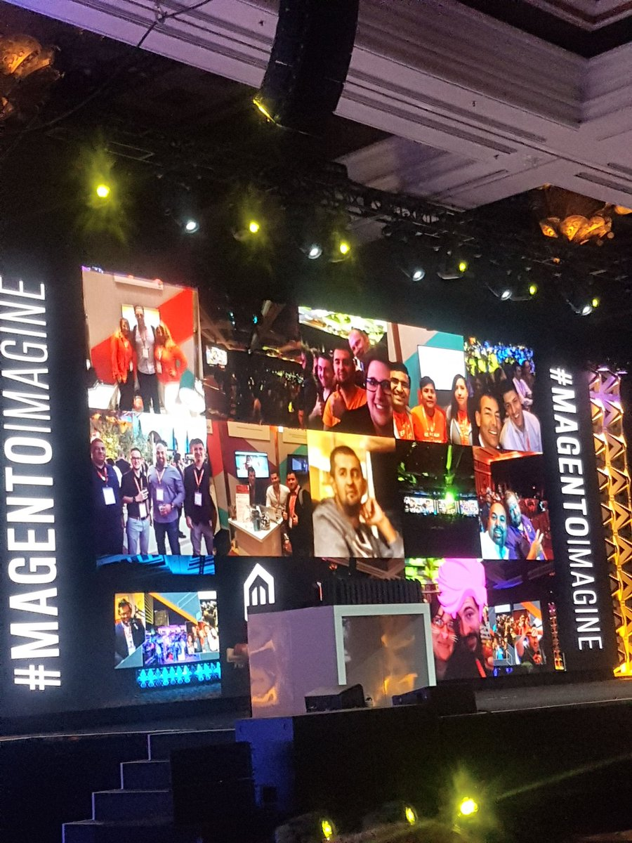 sandermangel: And @MariusStrajeru shining center stage! #Magentoimagine https://t.co/Rb7FZ8G0ki