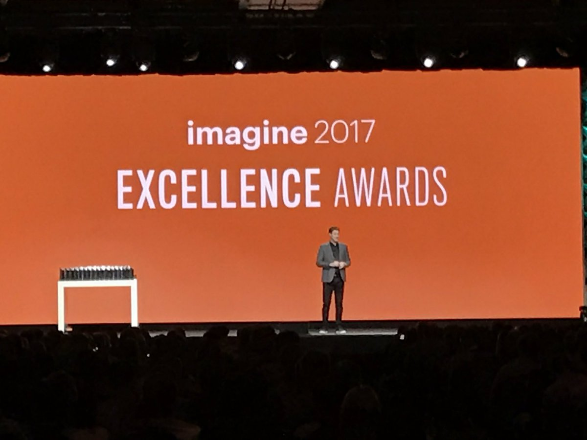 ProductPaul: @mklave1 about the Imagine 2017 excellence awards #Magentoimagine https://t.co/n77FIxrsPM
