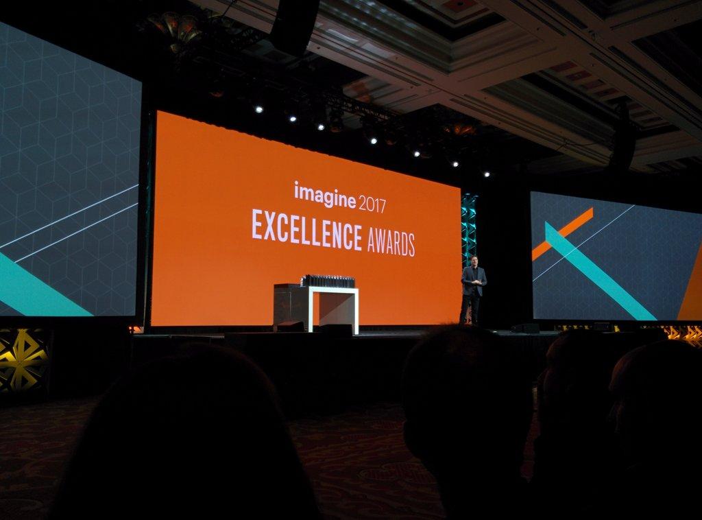 aleron75: Celebrating #excellence here at #MagentoImagine https://t.co/a7Em7AwRxt