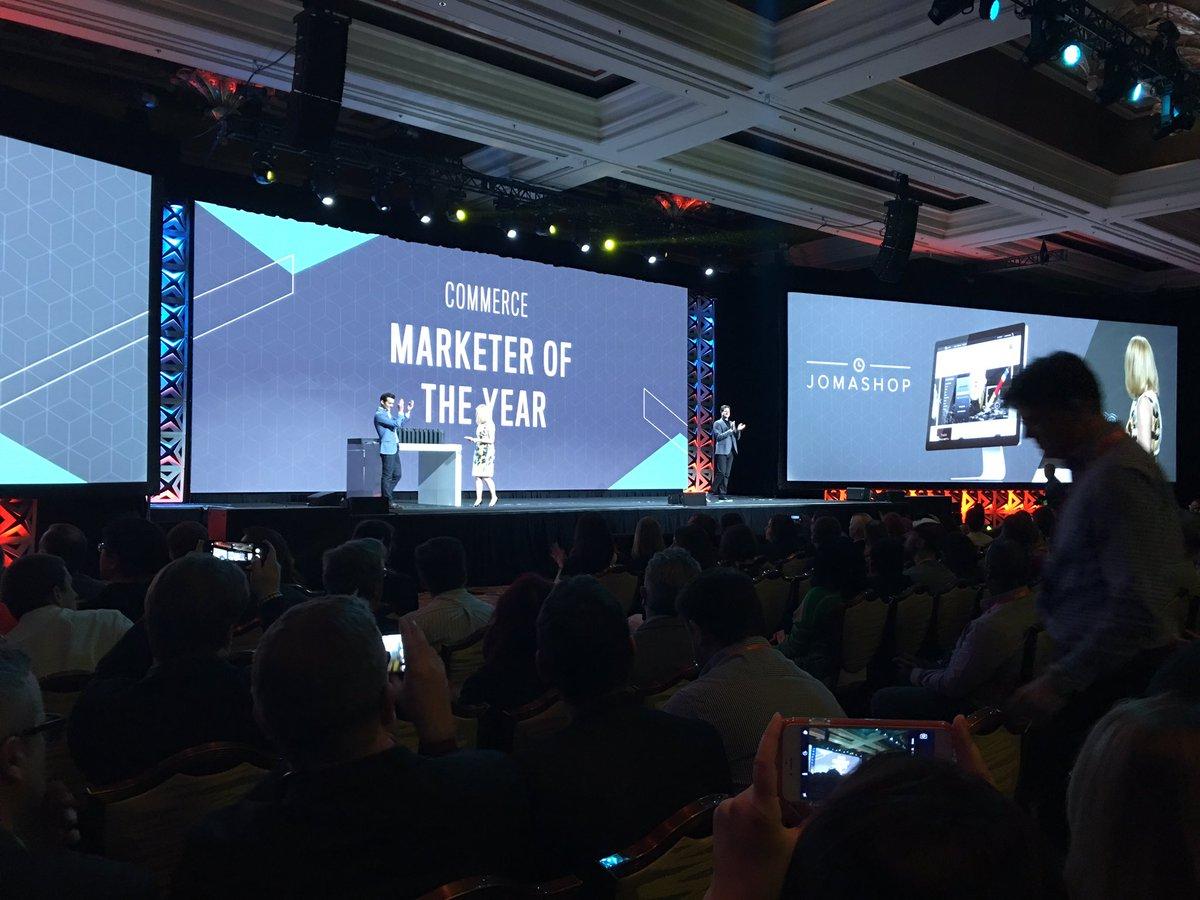 temando: Commerce Marketer of the year #Magentoimagine @Jomashop congratulations! https://t.co/qrrnc9uY96