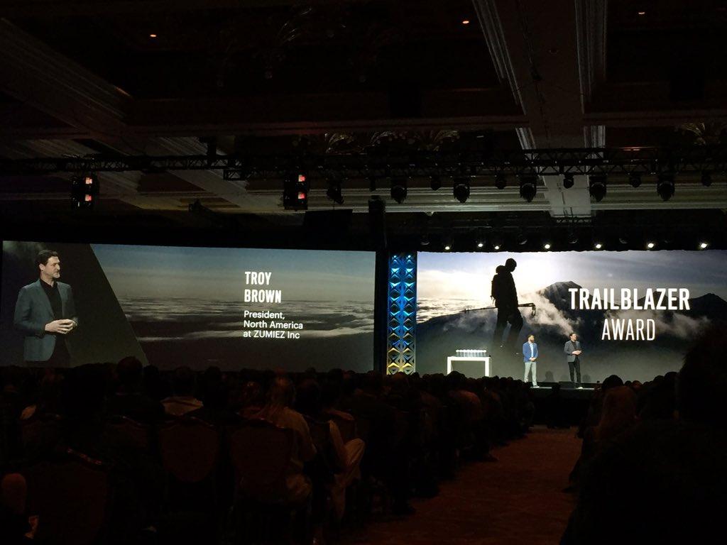 magento_rich: Trailblazer Award.. Troy Brown: Zumiez, Erik Burbank: Helly Hansen, and @royrubin05 ! #MagentoImagine https://t.co/QsjkIOn65n