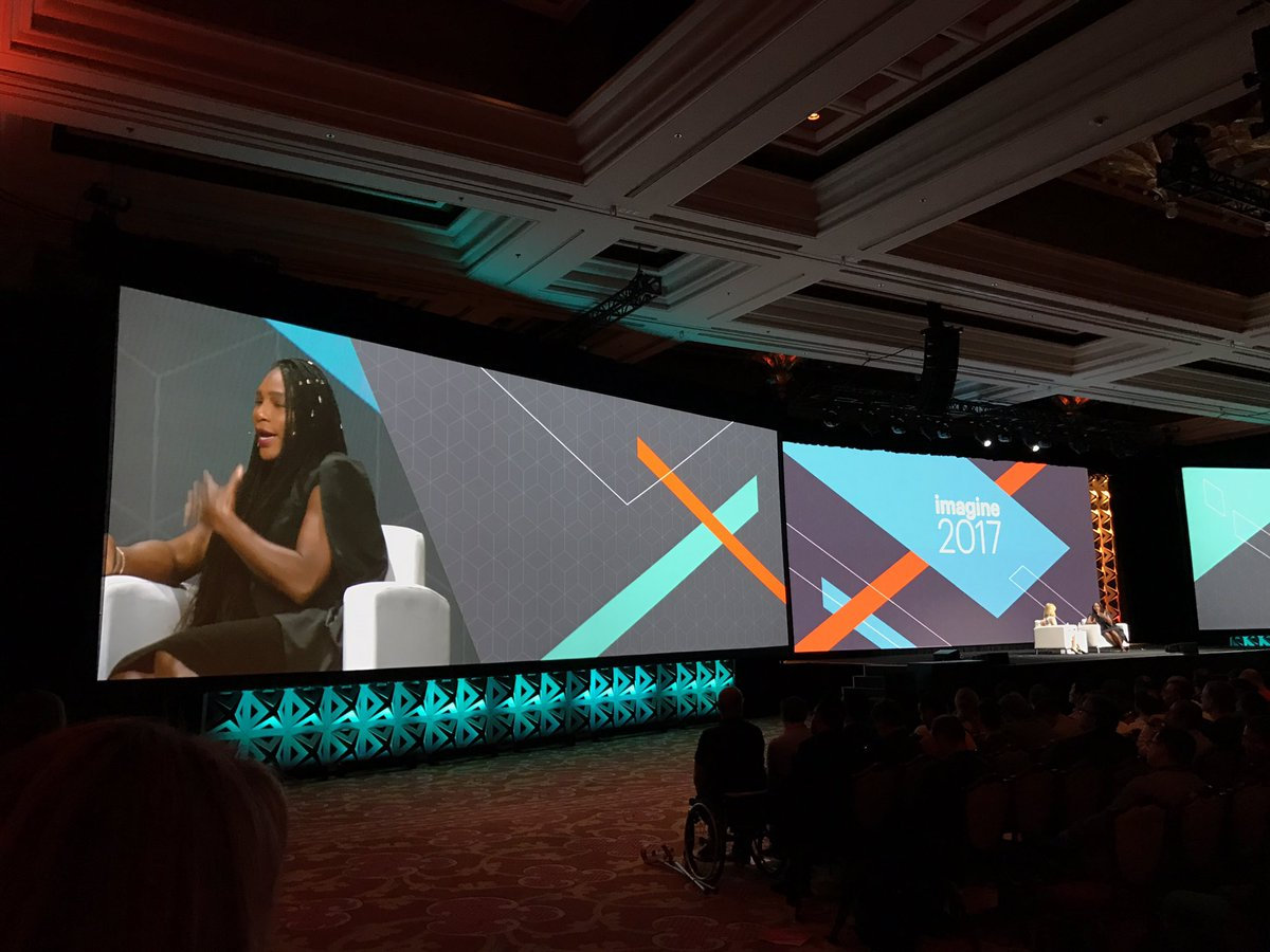KFlogood: Um, I'm low key losing my mind seeing @serenawilliams in person. She's a legend! #Magentoimagine #imagine2017 https://t.co/mYPrAo0hhZ