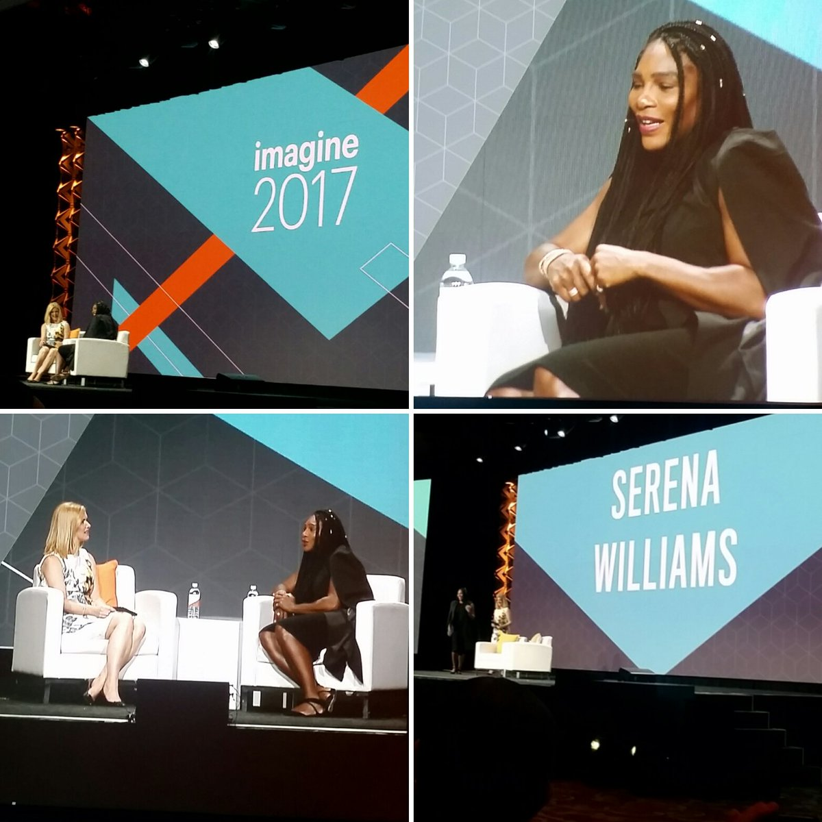 Tryzens: Hearing @serenawilliams talking to @awatpa about being the best but always wanting to be better. #MagentoImagine https://t.co/62TN8K4L6g