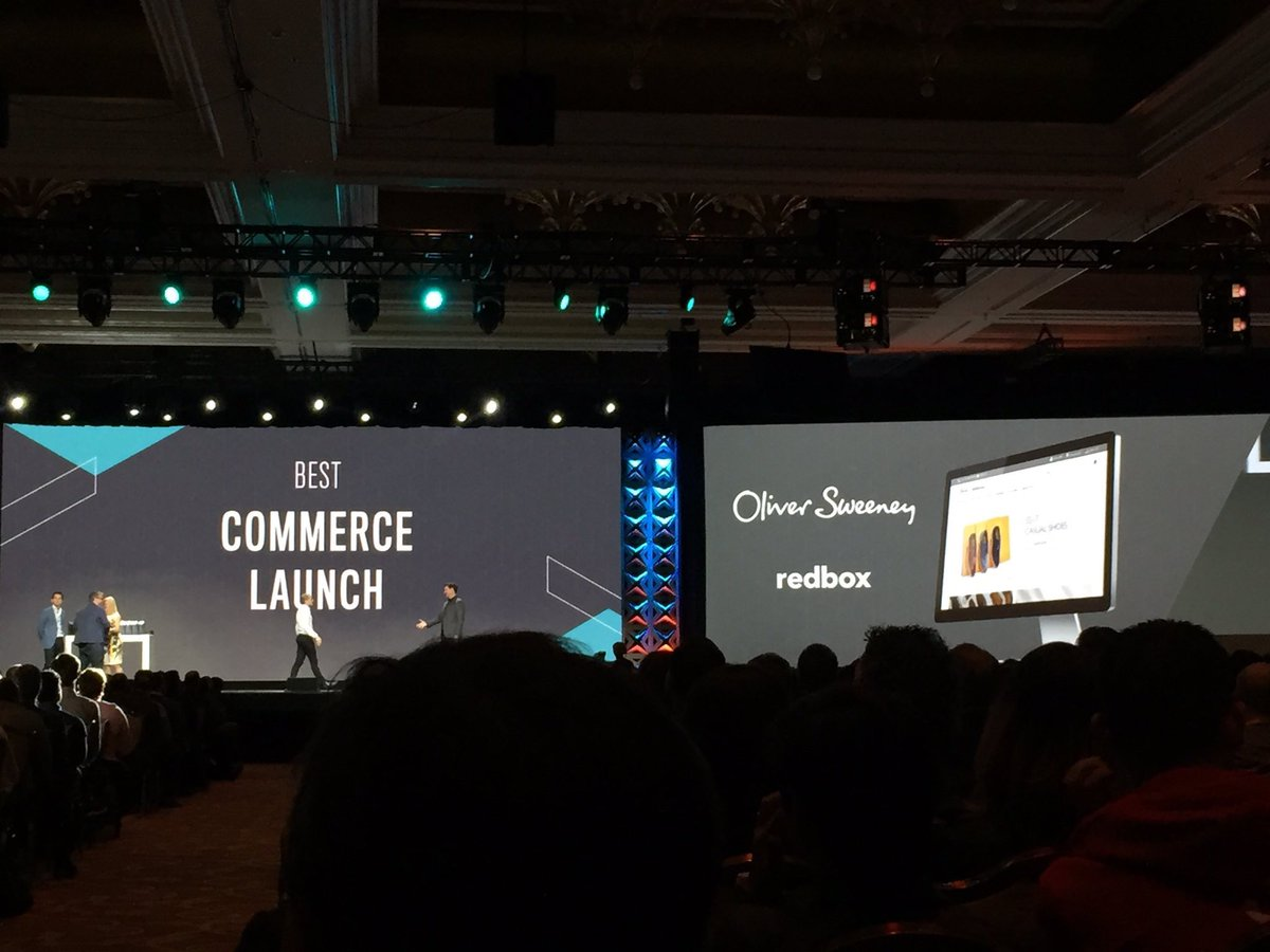 redboxdigital: Congratulations to our client @OliverSweeney for winning 'Best Commerce Launch 2017' @magento #Magentoimagine https://t.co/ay4WDcTnUZ