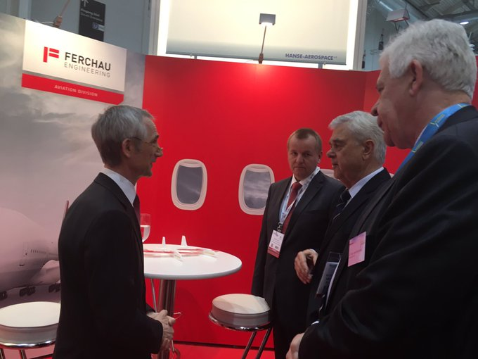 Red stop-over @FERCHAU engineering @aix_expo. The aviation division is based on Hamburg Finkenwerder. @HH_BWVI https://t.co/NTbCKiU2Yt