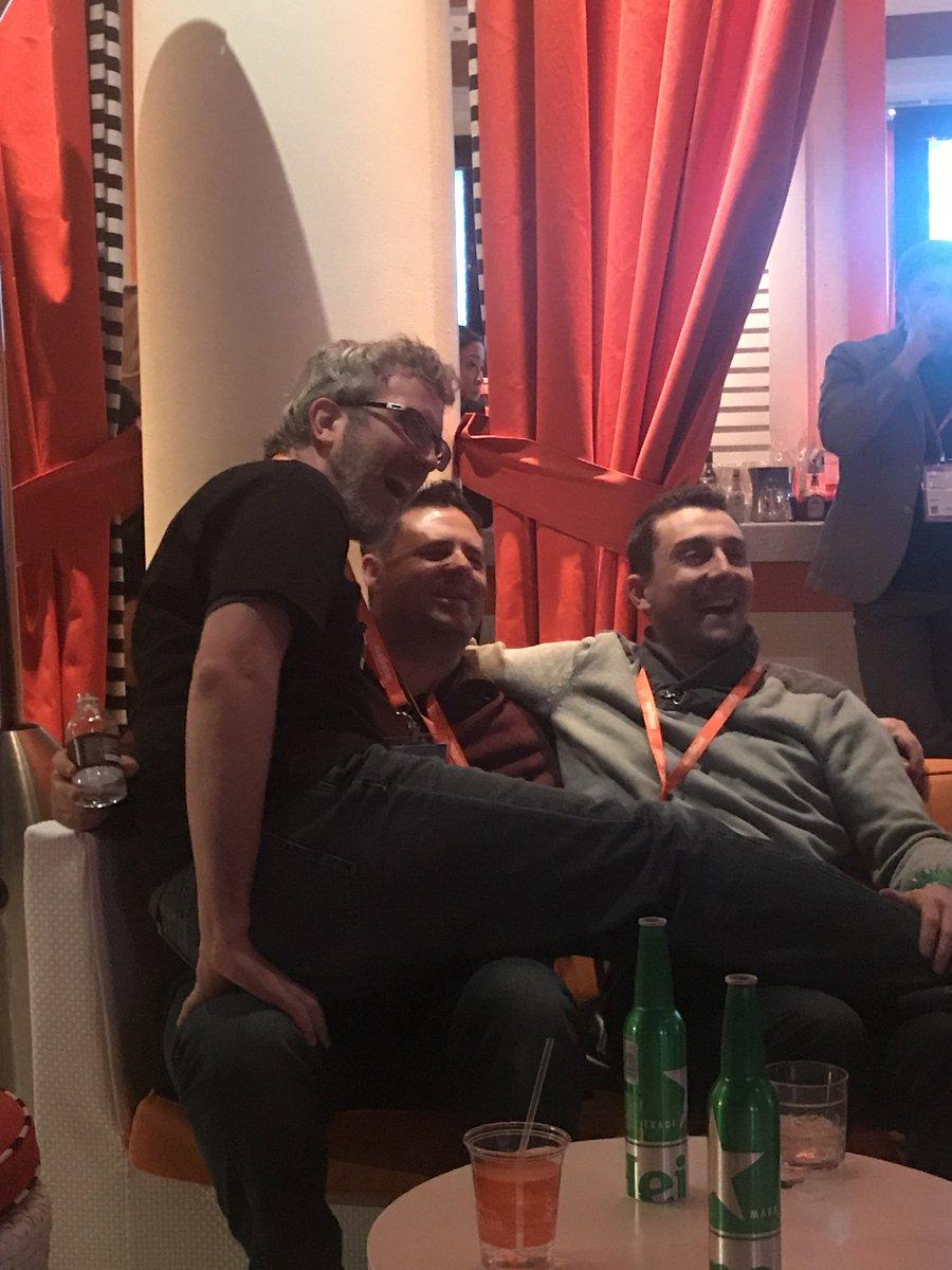 JohnHughes1984: @kalenjordan and @jissereitsma getting a bit cosy at #MagentoImagine legendary party 😂 https://t.co/AmmYkqhyhI