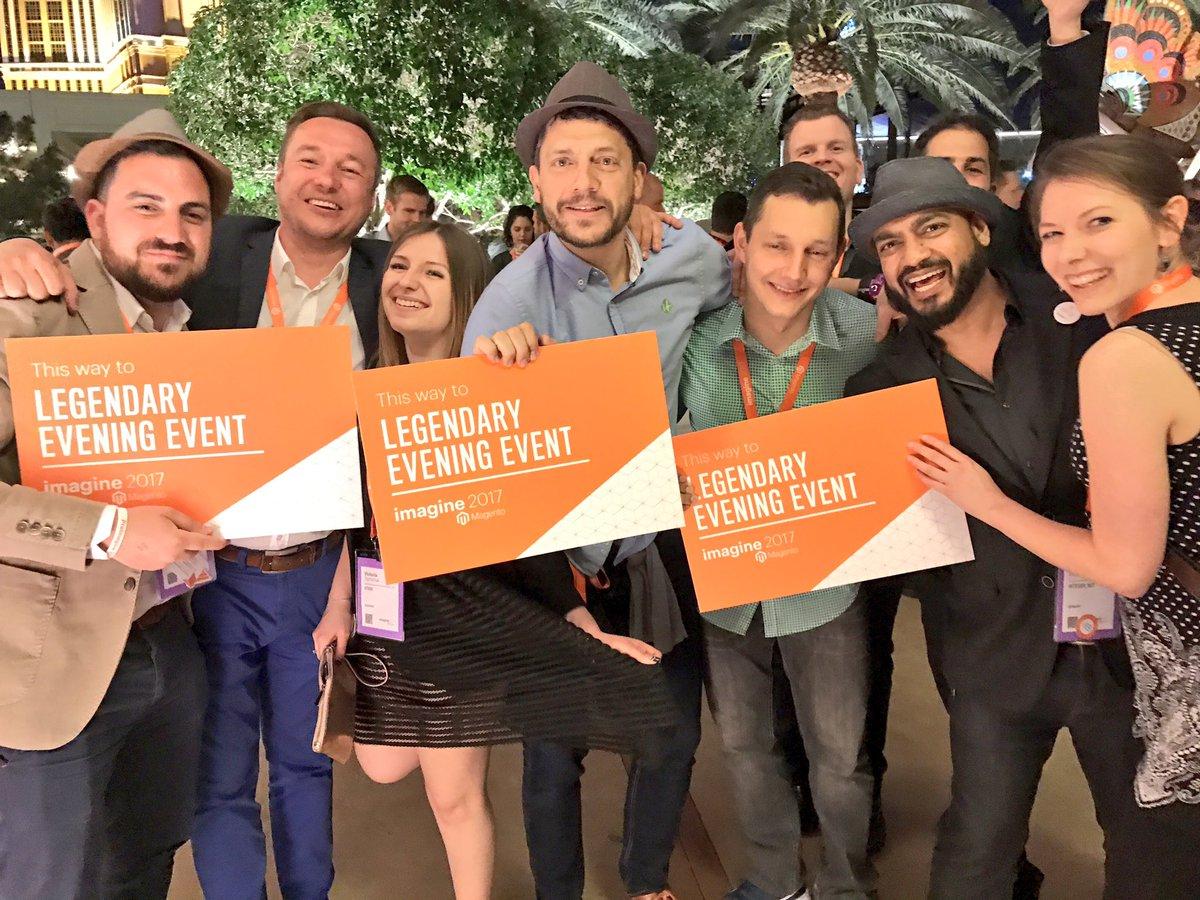 ignacioriesco: #Magentoimagine legendary party pic https://t.co/JiPIAkyrsl