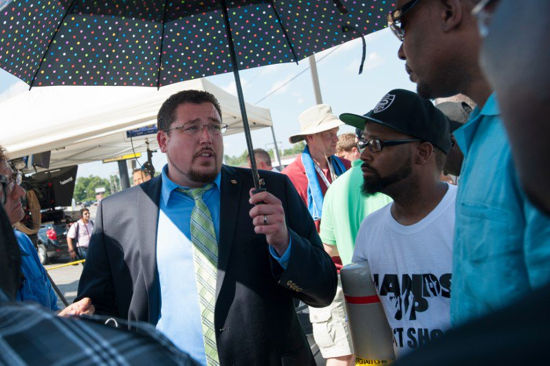 Ferguson re-elected its mayor in the first election since Michael Brown's shooting