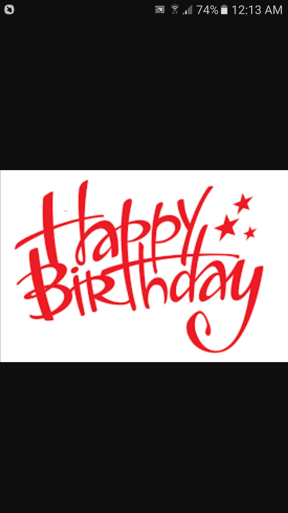just wanted to wish my favourite paranormal investigator a Happy Birthday hope u have a great day