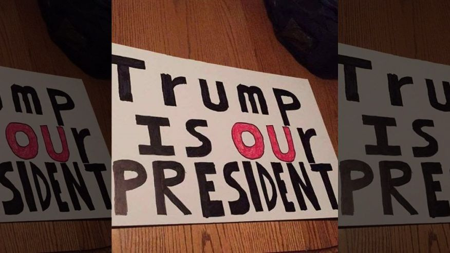 University says pro-Trump poster is offensive via @toddstarnes