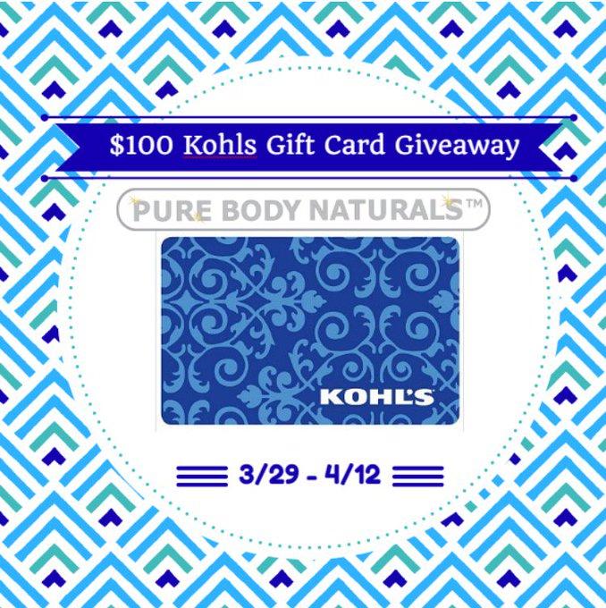 $100 Kohls Giveaway