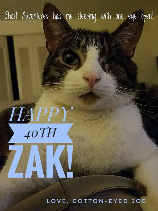 Happy Birthday Zak, 40 is the new...well 40.;) Love you big guy.