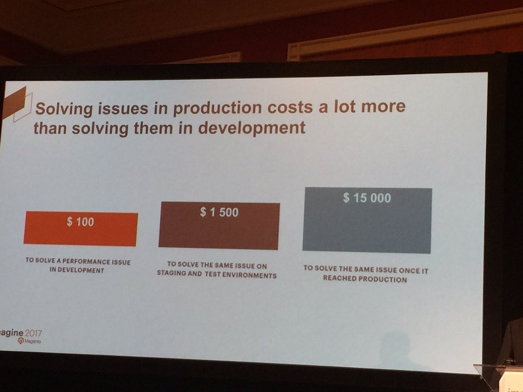 lindykyaw: To solve the performance issue on production cost 150x more @beausimensen #MagentoImagine https://t.co/96I200Qe2J