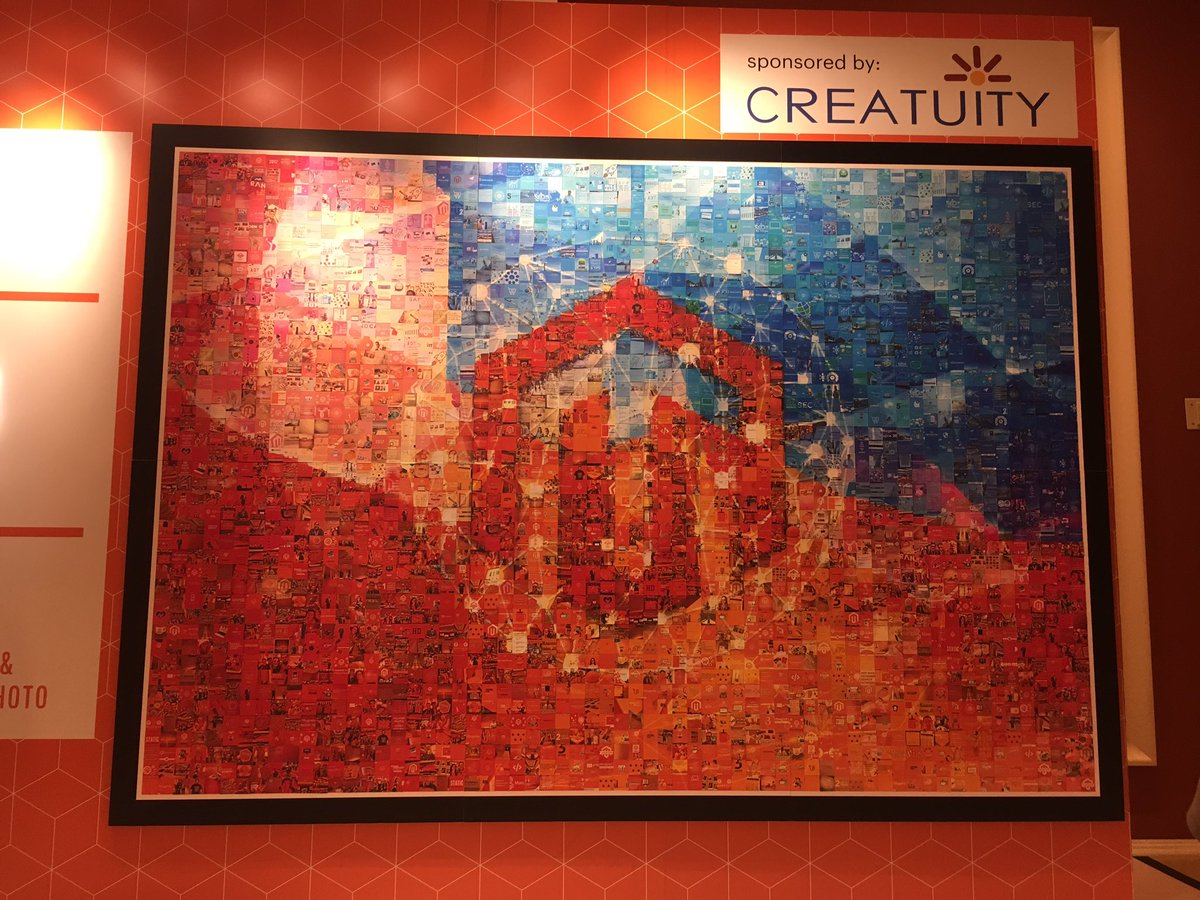molme: Creativity of @Creatuity is as great as the mosaic on the picture! #Magentoimagine https://t.co/CFxJbhzLpo