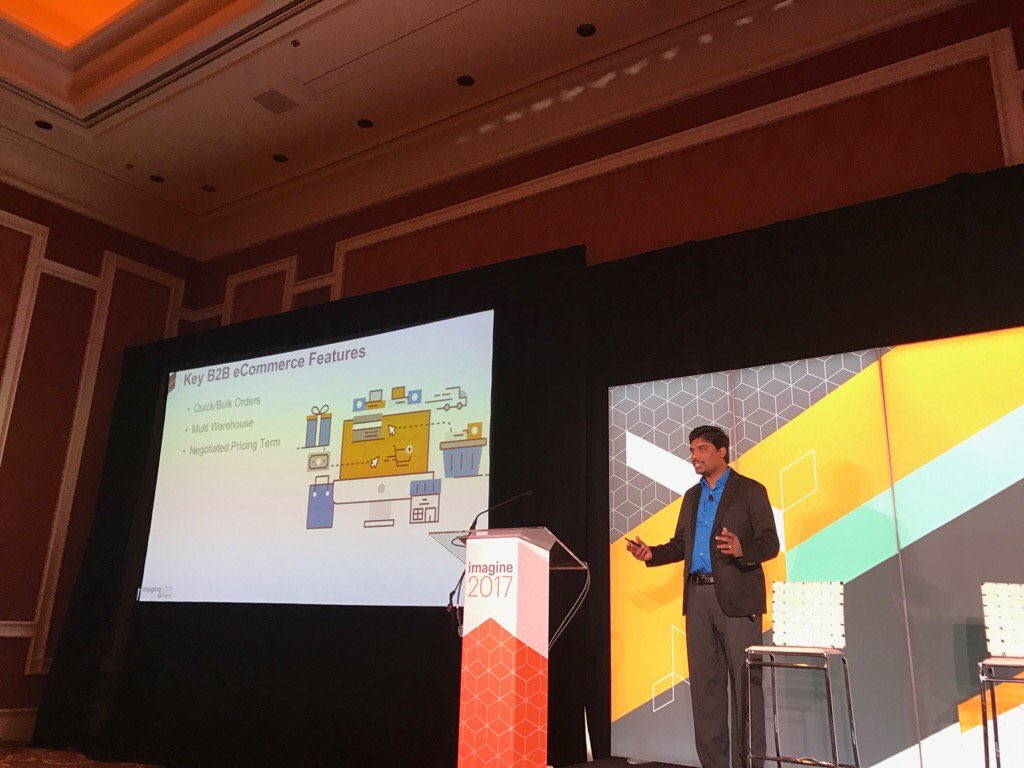 nmohanswe: I'm speaking about key #b2b features #MagentoImagine #imagine2017 https://t.co/WdR8fJfeVH