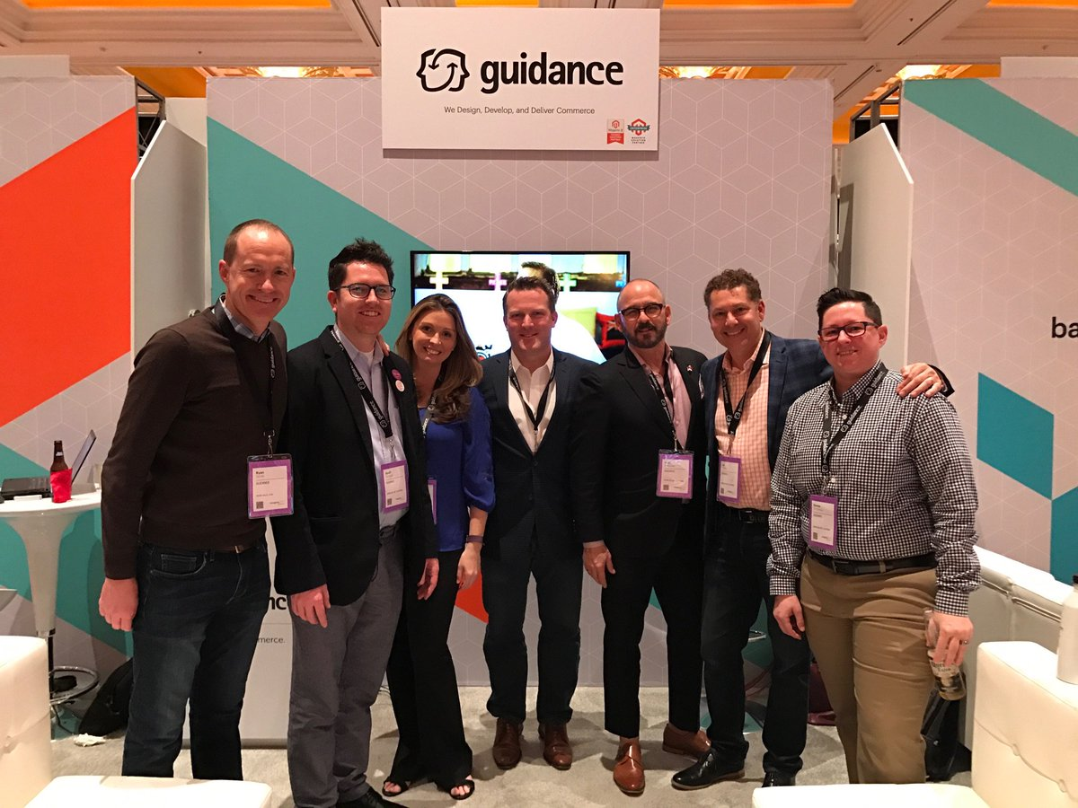 guidance: Guidance team out in force and having a great time at #Magentoimagine. Visit us at booth 415! https://t.co/0qtpt3TZTM