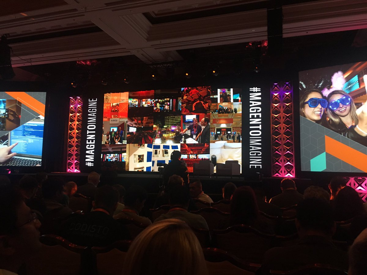 iwebtweets: Waiting for day three to kick off. A few fuzzy heads around this morning! #MagentoImagine https://t.co/TTmTByXiUE