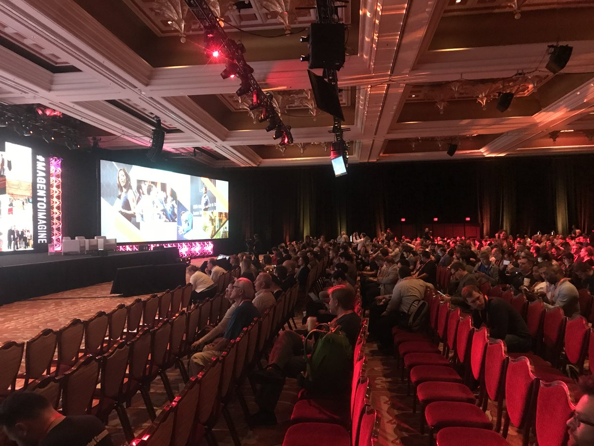 fisheyeweb: Final #MagentoImagine keynote filling up, let's hope for some new product announcements / updates 🤞 https://t.co/4GkqfaDmin