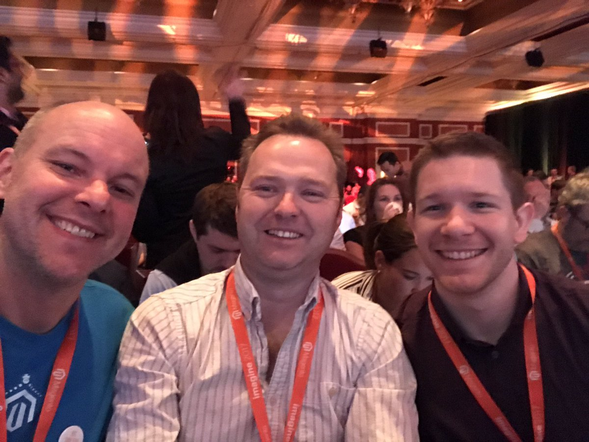 FutureDeryck: Waiting for the morning session with @bobbyshaw @brentwpeterson #MagentoImagine https://t.co/vYNRIWRmNh