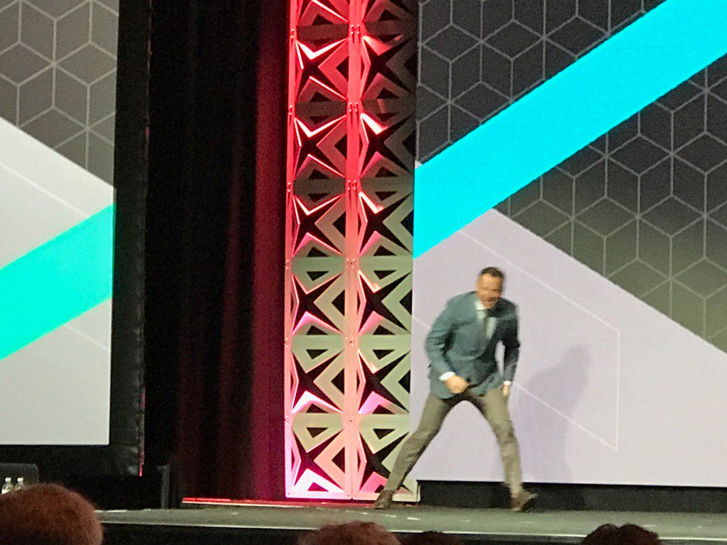 Blue_Bovine: #Magentoimagine @JC_Climbs crawls out for this mornings keynote; way too much fun last night! https://t.co/3vrKFI7gg8