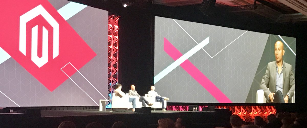 fisheyeweb: @magento co-founder @royrubin05 on stage at #MagentoImagine with CEO @mklave1 and @jasonwoosley_mg https://t.co/BpigkdsVlC