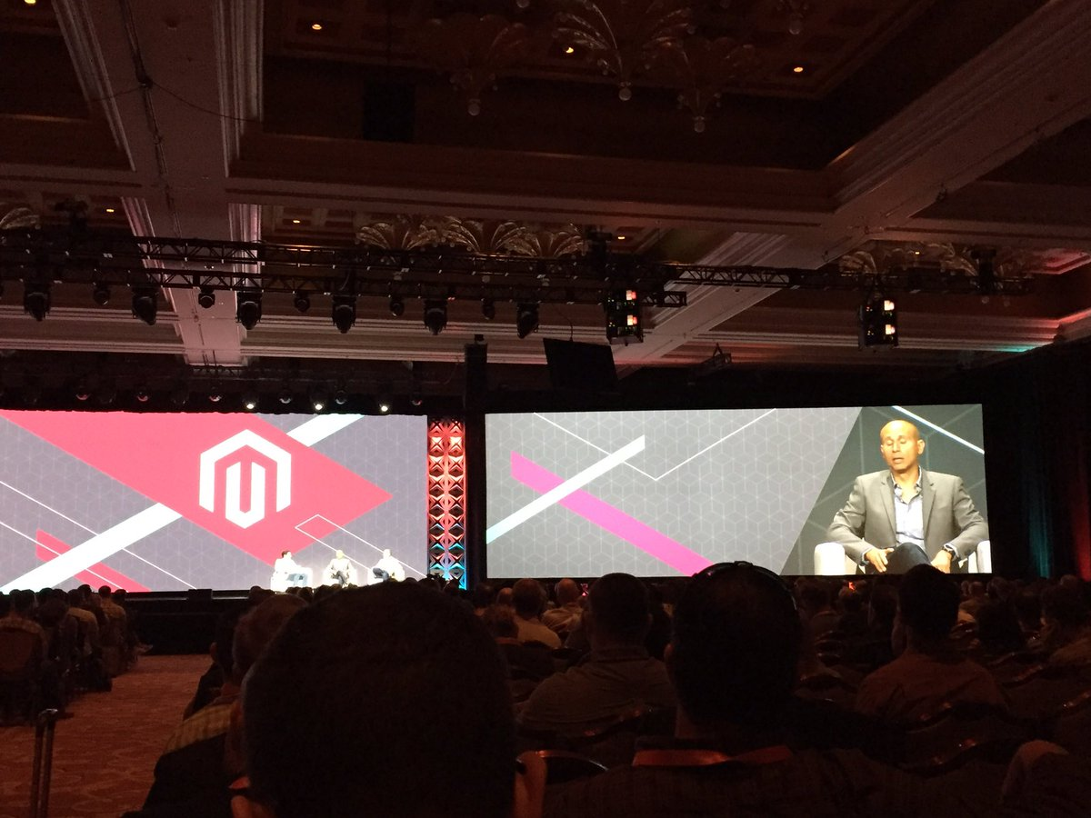 magento_rich: .@royrubin05 goes over the early days and intent of @magento. #MagentoImagine https://t.co/wJE1af8UBB