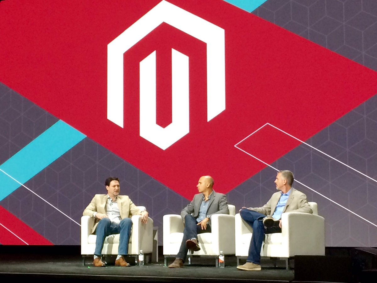 leeCommerce: @Magento leadership past and present on stage to wrap #Magentoimagine   Great to see @royrubin05 asgain! https://t.co/rNWlWrCZvA