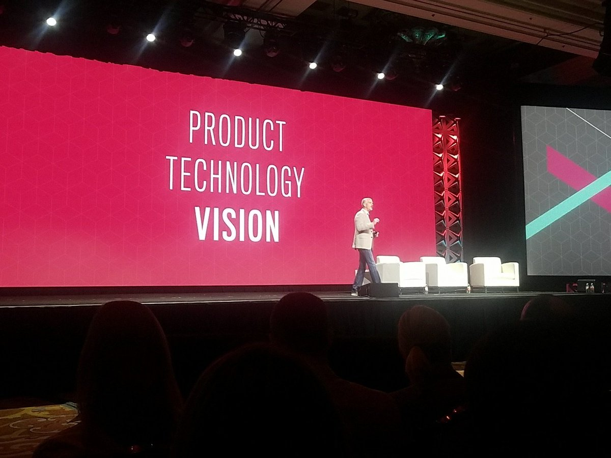 mattz_mg: El jefe talking about our product vision.  @jasonwoosley_mg first main stage appearance.  #MagentoImagine https://t.co/uD112zBRc5