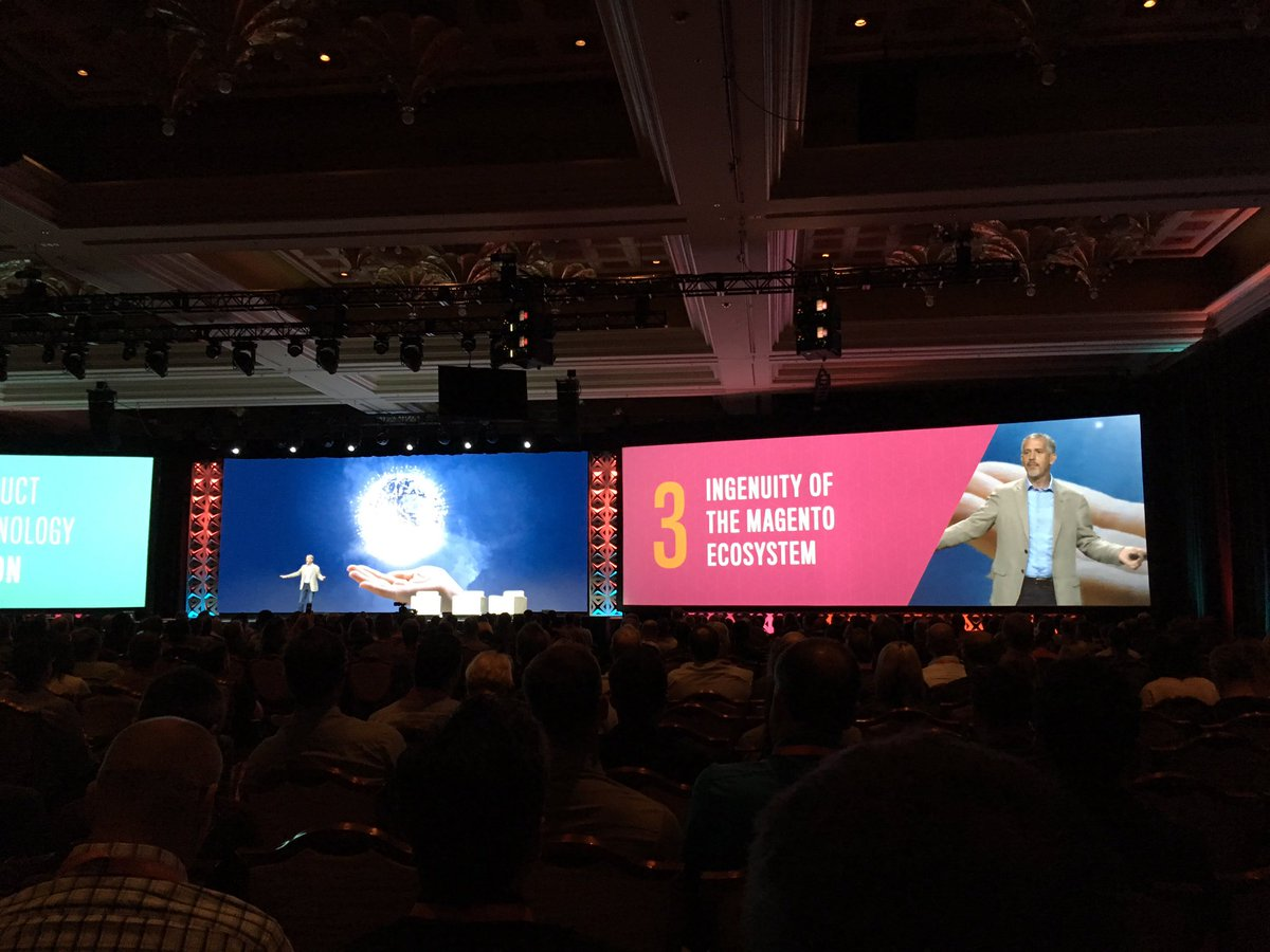 blackbooker: No. 3 in product vision is involoving the ingenuity of the ecosystem!! #MagentoImagine https://t.co/VQB7hjJHNr