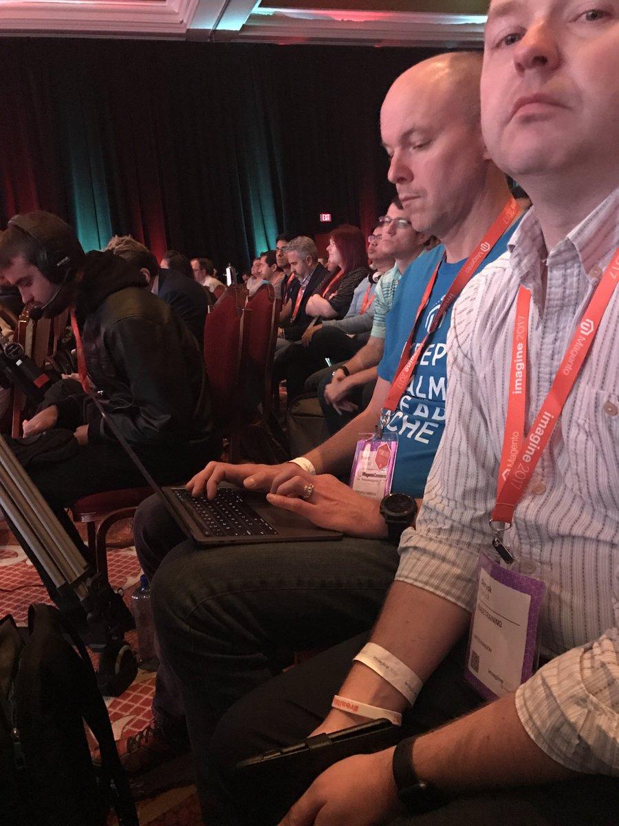 drlrdsen: It's nice to see speed tweeter @brentwpeterson back at full proficiency… #MagentoImagine https://t.co/sgJSkknr6P