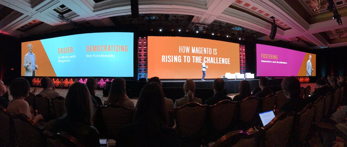gsicotte: My awesome boss @jasonwoosley_mg talking about how Magento is rising to the challenge #MagentoImagine https://t.co/q4fUchufEn