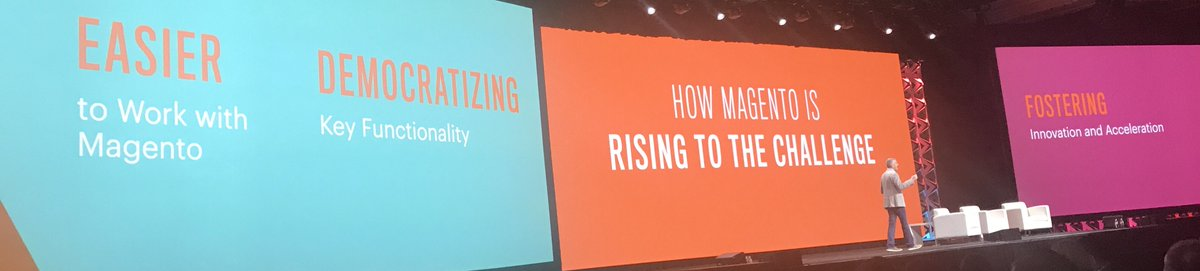 fisheyeweb: @jasonwoosley_mg outlining @magento's product vision and how they are 'rising to the challenge' at #MagentoImagine https://t.co/rgQwfeRZqk