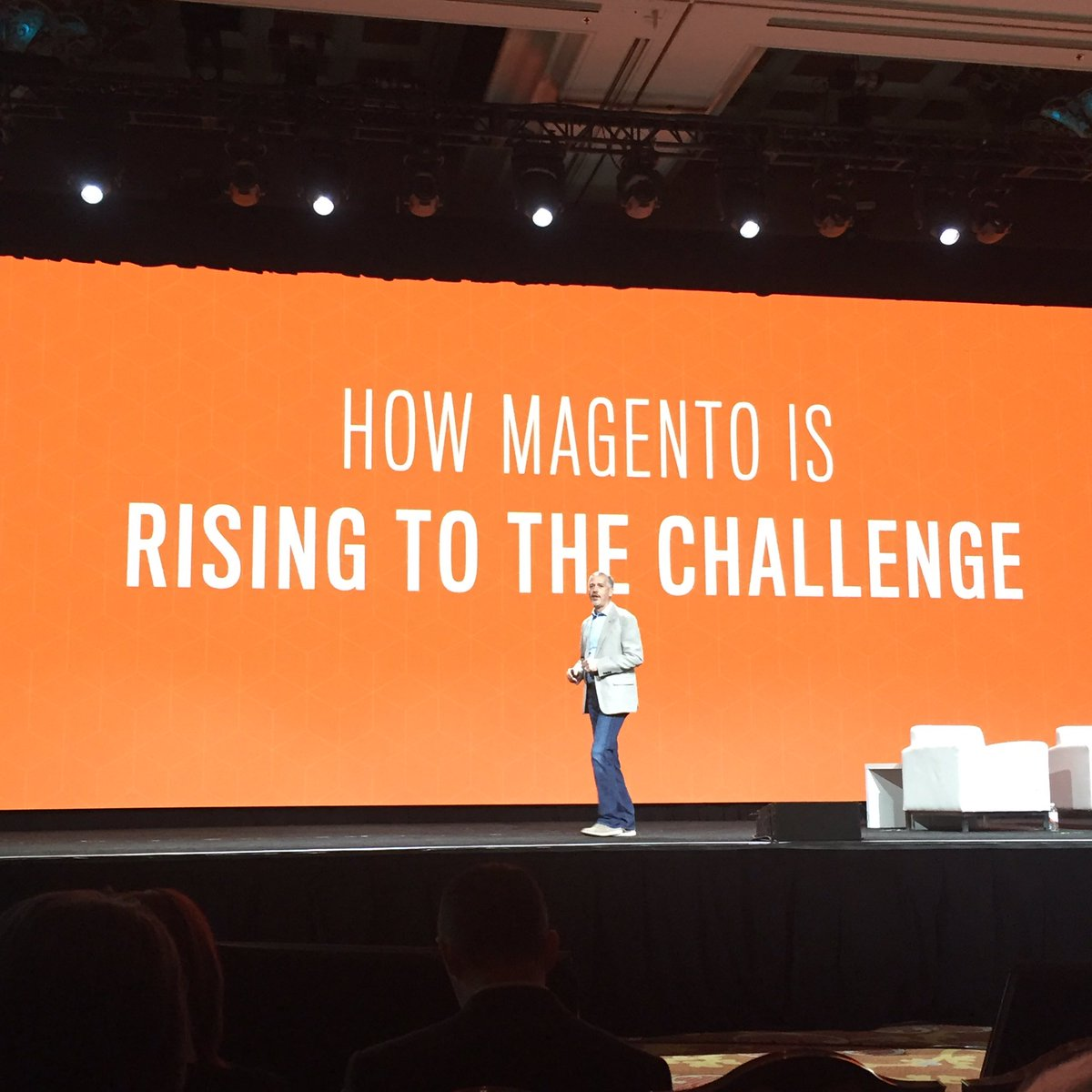 PeterMintchev: 'We want to be a partner and not a vendor.' - @jasonwoosley_mg at #MagentoImagine https://t.co/YLex4Z9M94