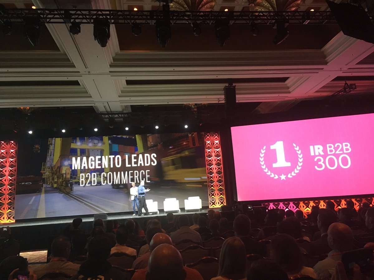 alexanderdamm: #Magento is B2B Commerce leader #Magentoimagine https://t.co/1Cy7FqiTOw