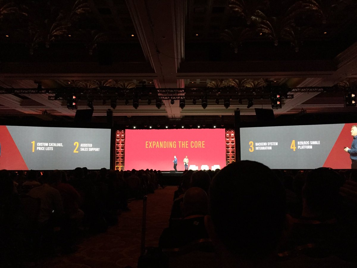 magento_rich: Integrated B2B functionality coming. #MagentoImagine https://t.co/p7iayHI19G