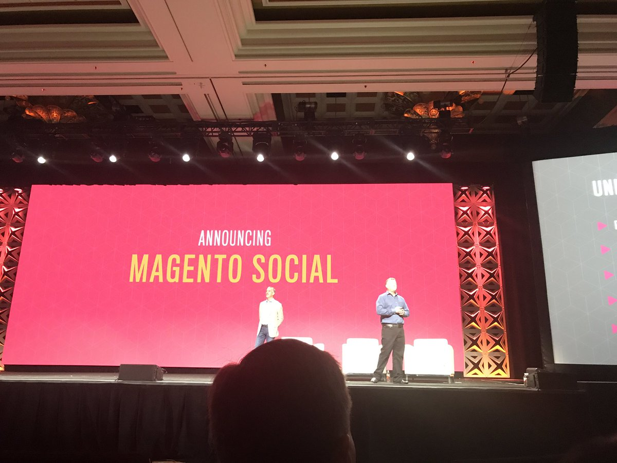 bobbyshaw: Magento Social launched at #Magentoimagine https://t.co/kLyK1ljWbn