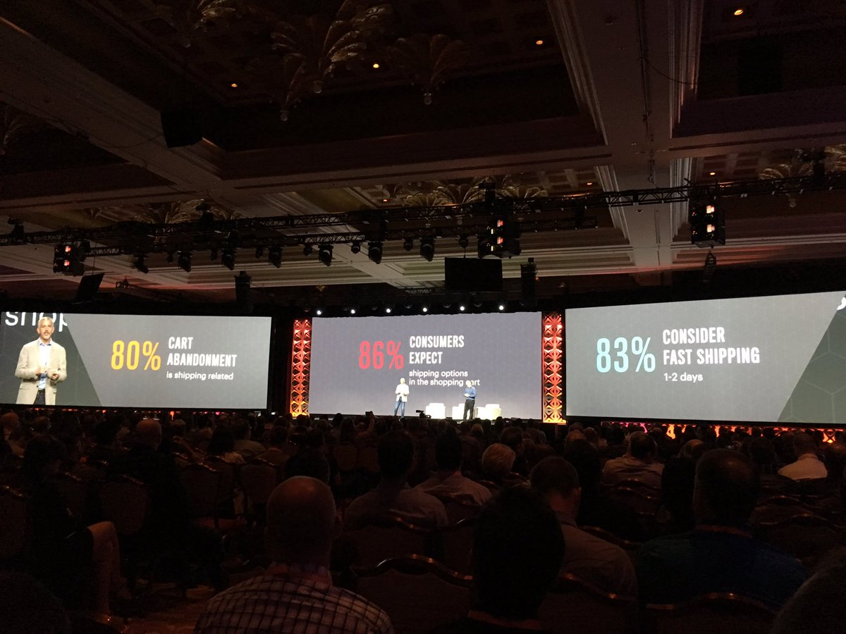 blackbooker: A whopping 80% of cart abandonment is due to unmet consumer shipping expectations  #MagentoImagine https://t.co/6iIVVMW90E
