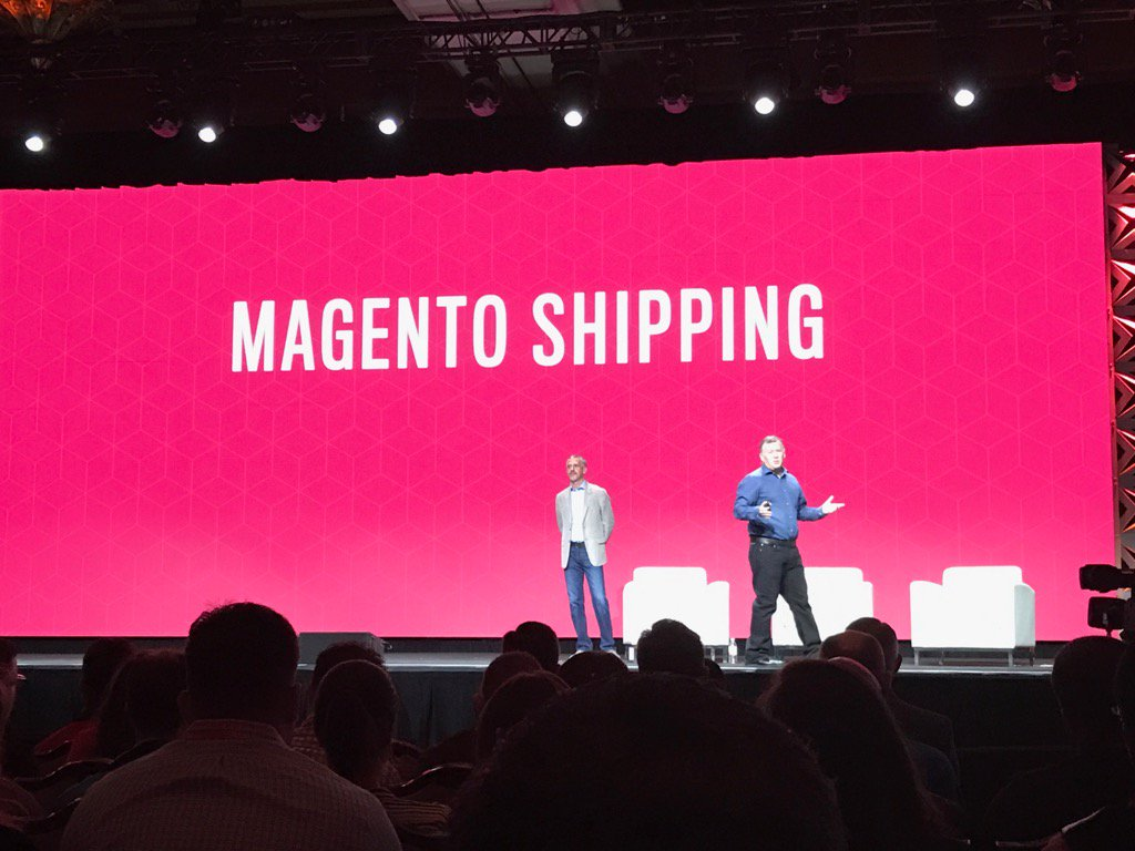 Blue_Bovine: #Magentoimagine @ProductPaul  introduces Magento Shipping and even works in a 'friends from seattle' reference ! https://t.co/yAtrMICVMi